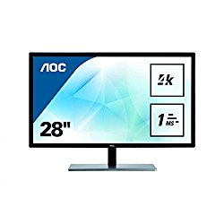 "AOC U2879VF Featured 28"" 4K UHD 2160p LED-Backlit LCD Monitor, Black/Silver"