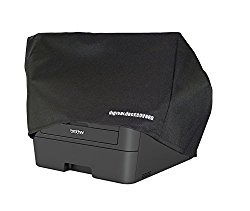 BROTHER MFC-L2700DW / MFC-L2720DW / MFC-L2740DW / DCP-L2540DW / MFC-7860DW Printer Dust Cover and Protector [Antistatic, Water Resistant, Heavy Duty Fabric, Black] by DigitalDeckCovers
