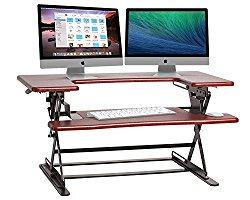Halter ED-600 Preassembled Height Adjustable Desk Sit / Stand Elevating Desktop – Cherry
