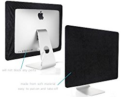 Kuzy – Black Screen Cover for Apple iMac 27″ Dust Cover, Display Protector Model: A1312 and A1419 – Black 27″
