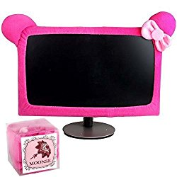 Moonse 15″-22″ Lovely Cute Waterproof Dustproof Computer Laptop TV LCD Screen Monitor Decoration Dust Cover Protector,Rose Red