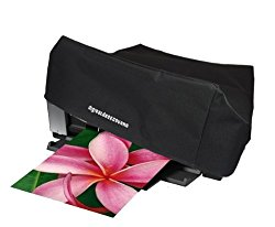 Printer Dust Cover for Epson Stylus Photo R2880 / R2400 / R2000 / 2200 / 1400; Epson Artisan 1430; Epson Workforce 1100; Surecolor P400 [Antistatic, Water Resistant, Heavy Duty Fabric, Black] by DigitalDeckCovers