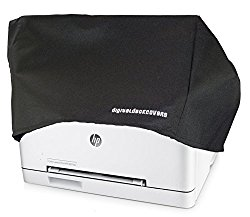 Printer Dust Cover for HP Color LaserJet Pro MFP M177fw / M277dw Printers [Antistatic, Water Resistant, Heavy Duty Fabric, Black] by DigitalDeckCovers