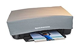 Printer Dust Cover for HP Envy 4500 / 4502 / 4504 / 4505 / 5530 / 5531 / 5535 Printers [Antistatic, Water Resistant, Heavy Duty Fabric, Silver] by DigitalDeckCovers