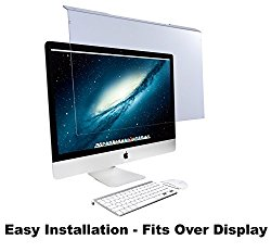 "Blue Light Screen Protector Panel For Apple iMac 21.5″ Diagonal LED Monitor (W 20.63″ X H 12.56""). Blue Light Blocking up to 100% of Hazardous HEV Blue Light. Reduces PC Eye Strain."