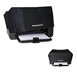 HP LaserJet Pro P1006 / P1009 / P1102W / P1109W Printer Dust Cover & Protector [Antistatic, Water-Resistant, Heavy Duty Fabric, Black] by DigitalDeckCovers | Printers Dust Covers