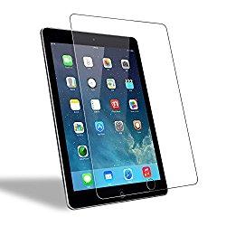 iPad Air 2/ iPad Air/ iPad Pro 9.7 Screen Protector Glass, WEOFUN New Tempered Glass Screen Protector for iPad 9.7 Inch/ iPad Pro 9.7 Inch/ iPad Air/ iPad Air 2 Glass [2.5D Round Edge]