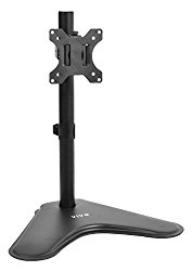 VIVO Single LCD Computer Monitor Free-Standing Desk Stand with Adjustable Tilt, Swivel, Rotation | Holds One (1) Screen 13″ to 32″ (STAND-V001H)