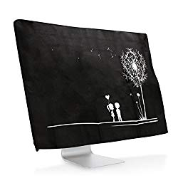 kwmobile Monitor Cover for 20-22″ Monitor – Dust Cover PC Monitor Case Screen Display Protector – White Black