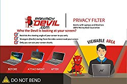 PrivacyDevil PD156 Screen for Monitors Privacy Filter for 15.6″ Display