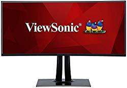 ViewSonic VP3881 38″ PRO UltraWide Curved Monitor USB Type C 100% sRGB Rec709 HDR10 14-bit 3D LUT Color Calibration for Video and Graphics