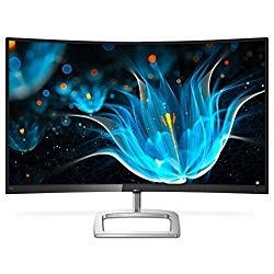 Philips 328E9QJAB 31.5″ Curved Frameless Monitor, Full HD 1080P, 128% sRGB & 102% NTSC, FreeSync, HDMI/DisplayPort/VGA, VESA