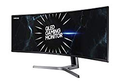 Samsung 49 Inch CRG90 144 hz Gaming monitor (LC49RG90SSNXZA) – Curved Gaming Monitor, Ultrawide screen, 1440p, 144hz, QLED, FreeSync with HDR