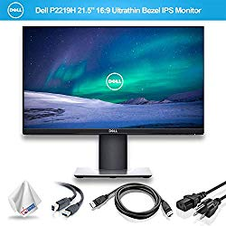 Dell P2219H 21.5″ 16:9 Ultrathin Bezel IPS Monitor (P2219H) with Microfiber Cleaning Cloth – 1 – Pack