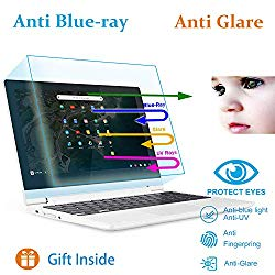 2 Pack Anti Blue Light Anti Glare Screen Protector Fit 11.6″ Lenovo Chromebook C330 Eyes Protection Filter Reduces Digital Eye Strain Help
