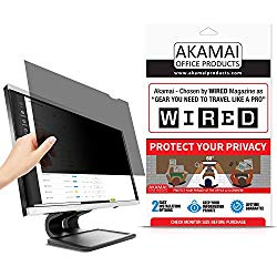 21.5″ Akamai Computer Privacy Screen (16:9) – Black Security Shield – Desktop Monitor Protector – UV & Blue Light Filter (21.5 inch Diagonally Measured, Black)