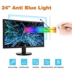 24 Monitor Screen Protector -Blue Light Filter, Eye Protection Blue Light Blocking Anti Glare Screen Protector for Diagonal 24″ with 16:9 Widescreen Desktop Monitor (Size: 20.9″ Width x 11.8″ Height)