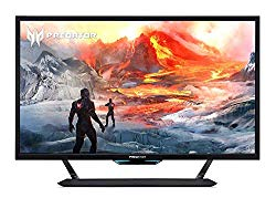 Acer Predator CG437K Pbmiiippuzx 43″ 4K UHD NVIDIA G-SYNC Compatible Gaming Monitor with VESA Certified DisplayHDR 1000, 144Hz, 1ms VRB, (2 x Display Port, 3 x HDMI Port & 1 USB Type-C Port)