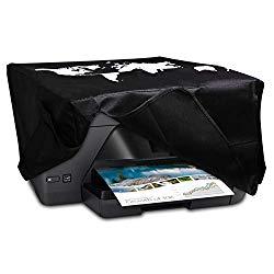 kwmobile HP OfficeJet Pro 6000series Cover – Printer Dust Cover for HP OfficeJet Pro 6000series – Travel Outline White/Black