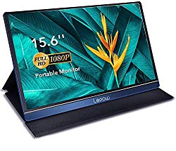 Portable Monitor – Lepow Upgraded 15.6 Inch IPS HDR 1920 x 1080 FHD Computer Display Game Screen with USB Type-C HDMI for Laptop PC MAC Phone Xbox Switch PS4 Include Smart Cover Screen Protector Blue