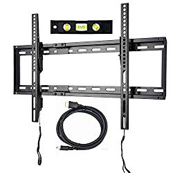 VideoSecu Mounts Tilt TV Wall Mount Bracket for Most 23″- 75″ Samsung, Sony, Vizio, LG, Sharp LCD LED Plasma TV with VESA 100×100 400×400 up to 684x400mm, Bonus HDMI Cable and Bubble Level MF608B2 WT1