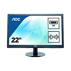 "AOC e2260Swda Professional 21.5"" LED-Backlit LCD Monitor, Black"