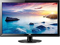 AOC E2425SWD 24-Inch Wide LCD  Monitor (1920×1080 Optimum Resolution, 20M:1 DCR, DVI-D and VGA connectivity) Black