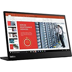 Lenovo ThinkVision M14 14″ Full HD 1920×1080 IPS Monitor – 300 Nit 6ms 2xUSB Type-C Ports Widescreen Backlit LED LCD Mobile Portable Display Raven Black